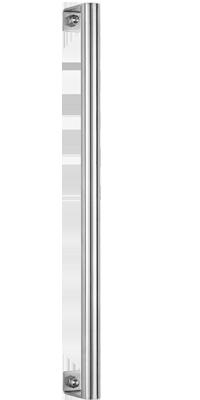 behle Haustürgriff Türgriff Griffstange Stoßgriff ES 30.11.0 s aus Edelstahl mit Winkelstützen nach Maß für Haustüren