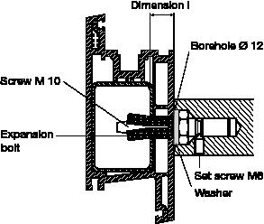 behle Montagesets 130.46 zur Befestigung von Türgriff, Stoßgriff bzw. Griffstange mit Dübel