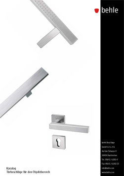 "behle Catalog ""Pull handles for contract sector"""