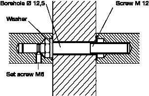 behle Montageset 250.00 zur paarweise Befestigung von Türgriff, Stoßgriff bzw. Griffstange