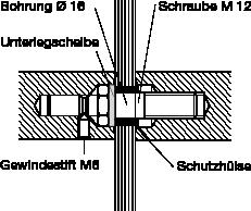behle Montageset 260.00 zur paarweise Befestigung von Türgriff, Stoßgriff bzw. Griffstange an Ganzglastüren