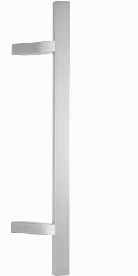 behle Haustürgriff Türgriff Griffstange Stoßgriff Rechteckprofil ES 3520.16... aus Edelstahl mit schrägen Stützen für Haustür