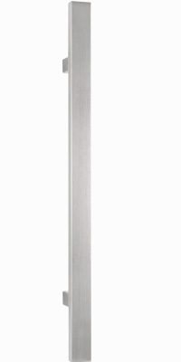 behle Haustürgriff Türgriff Griffstange Stoßgriff Rechteckprofil ES 3520.17... aus Edelstahl mit geraden Stützen für Haustür