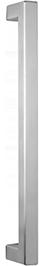 behle Haustürgriff Edelstahl Türgriff Edelstahl Stoßgriff Edelstahl Haustürgriff Quadratprofil Türgriff Quadratprofil Stoßgriff Quadratprofil ES 3030.500 ug Griffenden auf Gehrung für Haustüren