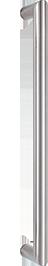 behle Haustürgriff Edelstahl Türgriff Edelstahl Stoßgriff Edelstahl ES 30.500 ug seitlich gebogen auf Gehrung für Haustüren