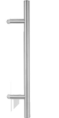 behle Haustürgriff Türgriff Griffstange Stoßgriff ES 30.0.0 s aus Edelstahl mit 120° Stützen für Haustüren