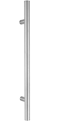 behle Haustürgriff Türgriff Griffstange Stoßgriff ES 30.1.0 s aus Edelstahl mit geraden Stützen für Haustüren