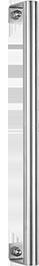 behle Haustürgriff Edelstahl Türgriff Edelstahl Stoßgriff Edelstahl ES 30.11.0 s mit Winkeln für Haustüren