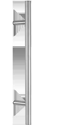 behle Haustürgriff Türgriff Griffstange Stoßgriff ES 30.2.0 s aus Edelstahl mit 60° schrägen Stützen für Haustüren