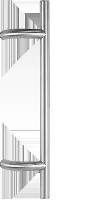 behle Haustürgriff Türgriff Griffstange Stoßgriff ES 30.3.0 s aus Edelstahl mit 90° gebogenen Stützen für Haustüren