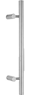 behle Haustürgriff Türgriff Griffstange Stoßgriff ES 30.7.0 s aus Edelstahl mit seitlich abgesetzten Stützen für Haustüren