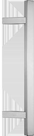 behle Haustürgriff Edelstahl Türgriff Edelstahl Stoßgriff Edelstahl Haustürgriff Quadratprofil Türgriff Quadratprofil Stoßgriff Quadratprofil ES 3030.16.0 s mit 45° schrägen Stützen für Haustüren