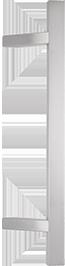 behle Haustürgriff Edelstahl Türgriff Edelstahl Stoßgriff Edelstahl Haustürgriff Rechteckprofil Türgriff Rechteckprofil Stoßgriff Rechteckprofil ES 3520.17... mit geraden Stützen für Haustüren