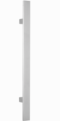 behle Haustürgriff Türgriff Griffstange Stoßgriff ES 4010.17.0 s aus Edelstahl mit geraden Stützen für Haustüren
