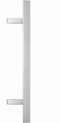 behle Haustürgriff Türgriff Griffstange Stoßgriff ES 4010.18.0 s aus Edelstahl mit schrägen Stützen für Haustüren