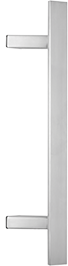 behle Haustürgriff Edelstahl Türgriff Edelstahl Stoßgriff Edelstahl Haustürgriff Flachprofil Türgriff Flachprofil Stoßgriff Flachprofil ES 4010.18... mit 45° schrägen Stützen für Haustüren