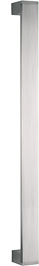 behle Haustürgriff Edelstahl Türgriff Edelstahl Stoßgriff Edelstahl Haustürgriff Flachprofil Türgriff Flachprofil Stoßgriff Flachprofil ES 4010.500 u mit Endstützen für Haustüren