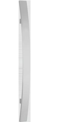behle Haustürgriff Türgriff Griffstange Stoßgriff ES 4010.600.400 b aus Edelstahl mit geraden Stützen nach vorn gebogen für Haustüren