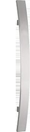 behle Haustürgriff Edelstahl Türgriff Edelstahl Stoßgriff Edelstahl Haustürgriff Flachprofil Türgriff Flachprofil Stoßgriff Flachprofil ES 4010.500.300 b mit geraden Stützen nach vorn gebogen für Haustüren