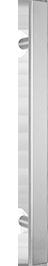 behle Haustürgriff Edelstahl Türgriff Edelstahl Stoßgriff Edelstahl Haustürgriff Halbrundprofil Türgriff Halbrundprofil Stoßgriff Halbrundprofil ES 4025.1.0 s mit geraden Stützen für Haustüren