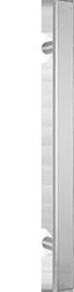 behle Haustürgriff Edelstahl Türgriff Edelstahl Stoßgriff Edelstahl Haustürgriff Halbrundprofil Türgriff Halbrundprofil Stoßgriff Halbrundprofil ES 4025.1... mit geraden Stützen für Haustüren