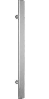 behle Haustürgriff Türgriff Griffstange Stoßgriff Halbrundprofil ES 4025.1 aus Edelstahl mit geraden Stützen für Haustüren