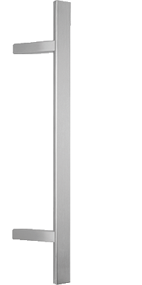 behle pull handle (front entry handle) ES 4025.16...  in half round profile with 45° supports