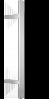 behle Haustürgriff Türgriff Griffstange Stoßgriff Halbrundprofil ES 4025.16 aus Edelstahl mit schrägen Stützen für Haustür