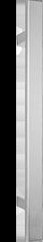 behle Haustürgriff Edelstahl Türgriff Edelstahl Stoßgriff Edelstahl Haustürgriff Halbrundprofil Türgriff Halbrundprofil Stoßgriff Halbrundprofil ES 4025.17... mit geraden Stützen für Haustüren