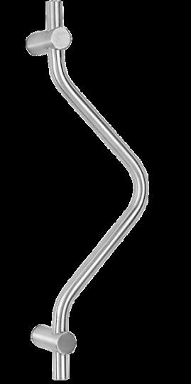 behle Haustürgriff Türgriff Stoßgriff ES 21.400.5 ks aus Edelstahl für Haustüren