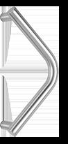 behle Haustürgriff Türgriff Stoßgriff ES 30.300 gk aus Edelstahl für Haustüren