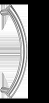 behle Haustürgriff Türgriff Stoßgriff ES 30.300 ksb aus Edelstahl für Haustüren