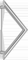 behle Haustürgriff Türgriff Stoßgriff ES 30.300 gkw aus Edelstahl für Haustüren