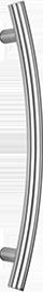 behle Haustürgriff Edelstahl Türgriff Edelstahl Stoßgriff Edelstahl ES 30.1.0 ksb seitlich gebogen mit geraden Stützen für Haustüren