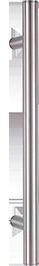 behle Haustürgriff Edelstahl Türgriff Edelstahl Griffstange Edelstahl Stoßgriff Edelstahl ES 30.1.0 s mit geraden Stützen für Haustüren