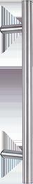 behle Haustürgriff Edelstahl Türgriff Edelstahl Griffstange Edelstahl Stoßgriff Edelstahl ES 30.2.0 s mit 60° Stützen für Haustüren