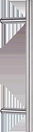 behle Haustürgriff Edelstahl Türgriff Edelstahl Griffstange Edelstahl Stoßgriff Edelstahl ES 30.9.0 s mit 45° Stützen für Haustüren