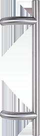 behle Haustürgriff Edelstahl Türgriff Edelstahl Griffstange Edelstahl Stoßgriff Edelstahl ES 30.3.0 s mit 90° Stützen für Haustüren