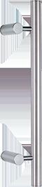 behle Haustürgriff Edelstahl Türgriff Edelstahl Griffstange Edelstahl Stoßgriff Edelstahl ES 30.7.0 s mit abgesetzten Stützen für Haustüren