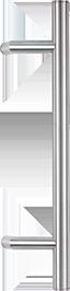 behle Haustürgriff Edelstahl Türgriff Edelstahl Griffstange Edelstahl Stoßgriff Edelstahl ES 30.0.0 s mit 120° Stützen für Haustüren