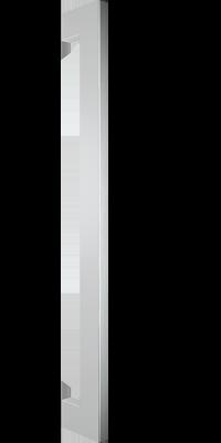 behle Haustürgriff Türgriff Griffstange Stoßgriff Rechteckprofil ES 2240.600 ug aus Edelstahl Griffenden auf Gehrung für Haustür