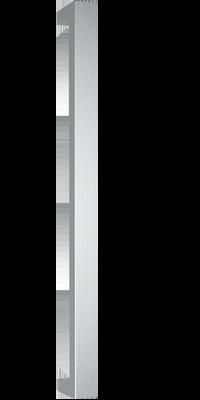 behle Haustürgriff Türgriff Griffstange Stoßgriff Rechteckprofil ES 4022.600 ug aus Edelstahl Griffenden auf Gehrung für Haustüren