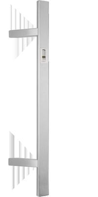 behle Haustürgriff Türgriff Griffstange Stoßgriff Halbrundprofil ES 4025.16.0 s aus Edelstahl mit 45° Stützen für Haustür