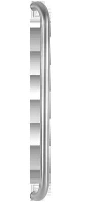 behle Haustürgriff Türgriff Griffstange Stoßgriff / Schutzstange  ES 30.600 u aus Edelstahl, Enden gebogen für Haus und Durchgangstüren
