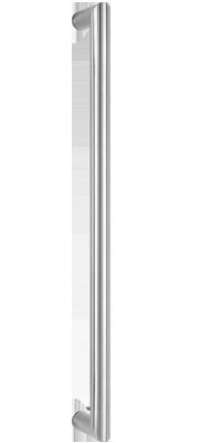 behle Haustürgriff Türgriff Griffstange Stoßgriff / Schutzstange  ES 30.600 ug aus Edelstahl, Enden auf Gehrung für Haus und Durchgangstüren